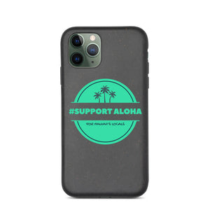 Biodegradable phone case #SUPPORT ALOHA Series Palm Tree