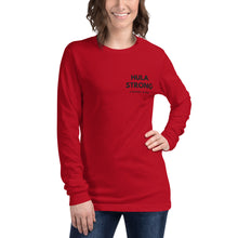 Load image into Gallery viewer, Unisex Long Sleeve Tee HULA STRONG Logo Black