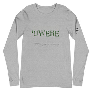 Unisex Long Sleeve Tee UWEHE Front & Shoulder printing