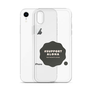 iPhone Case #SUPPORT ALOHA Series Cloud Black