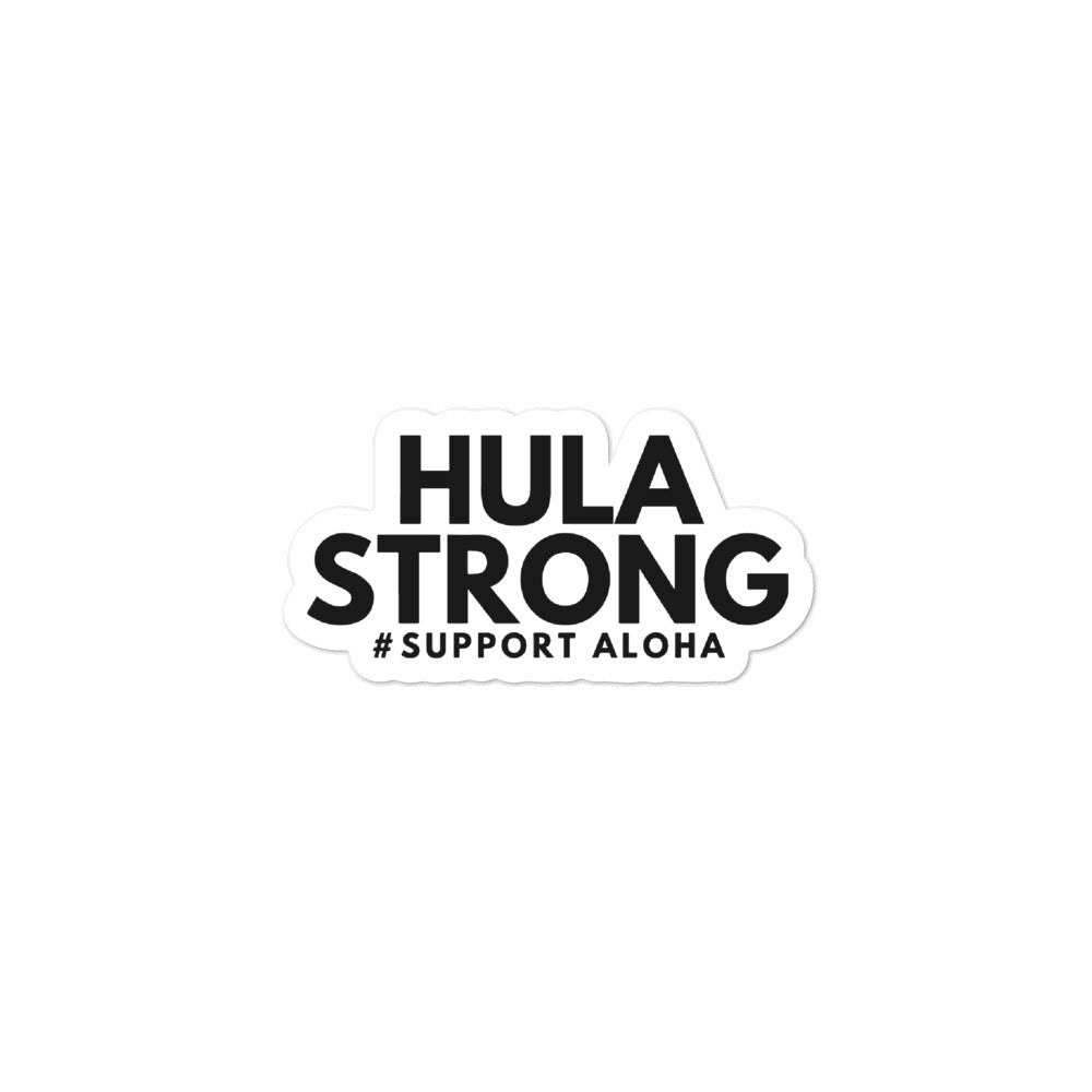 Bubble-free stickers HULA STRONG