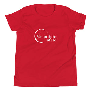 Youth Short Sleeve T-Shirt Moonlight Mele Logo White