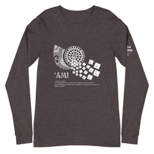 Load image into Gallery viewer, Unisex Long Sleeve Tee AMI Front & Shoulder printing Logo White