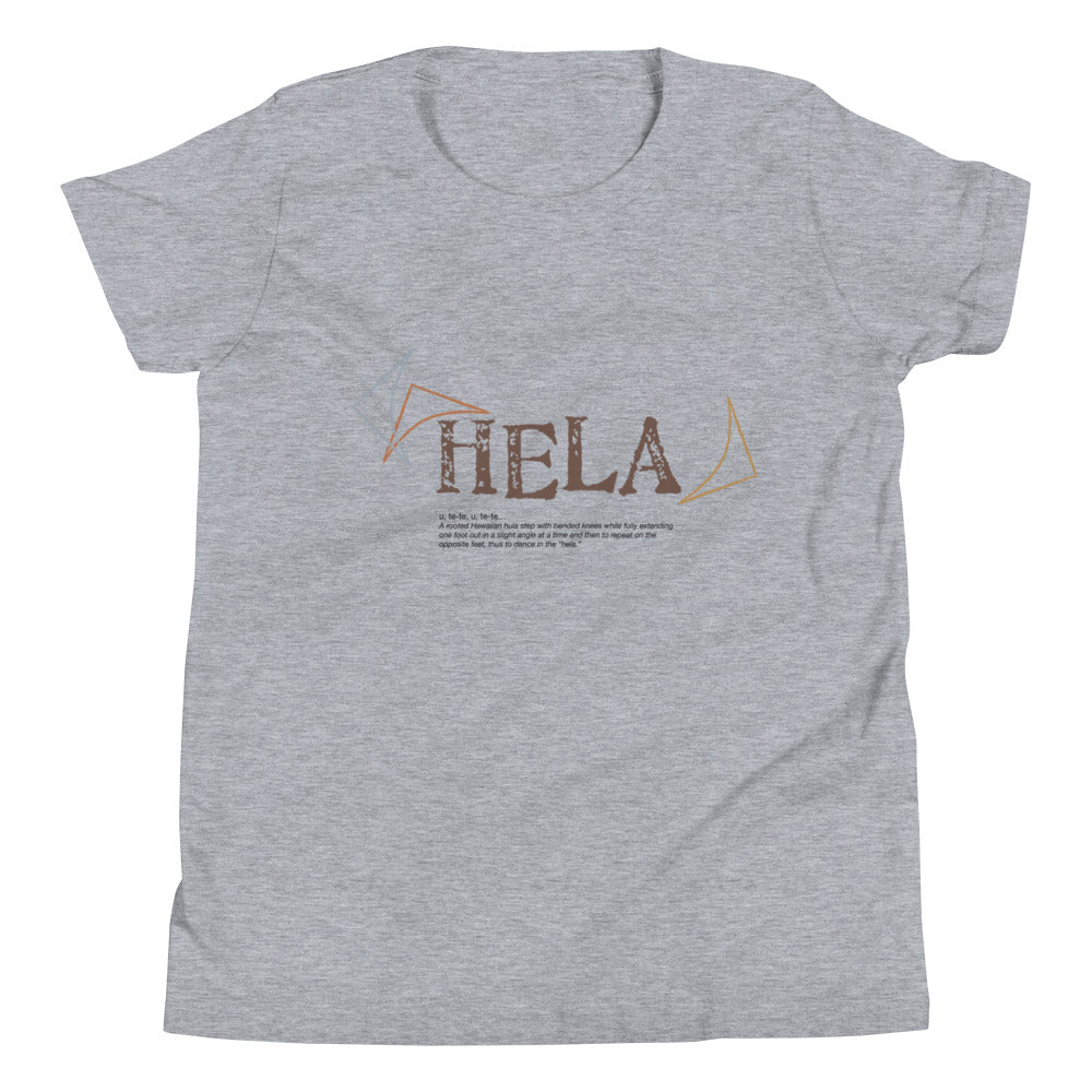 Youth Short Sleeve T-Shirt HELA Front & Back printing