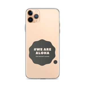 iPhone Case #WE ARE ALOHA Series Cloud Black