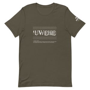 Short-Sleeve Unisex T-Shirt UWEHE Front & Shoulder printing Logo White
