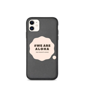 Biodegradable phone case #WE ARE ALOHA Series Cloud Pink