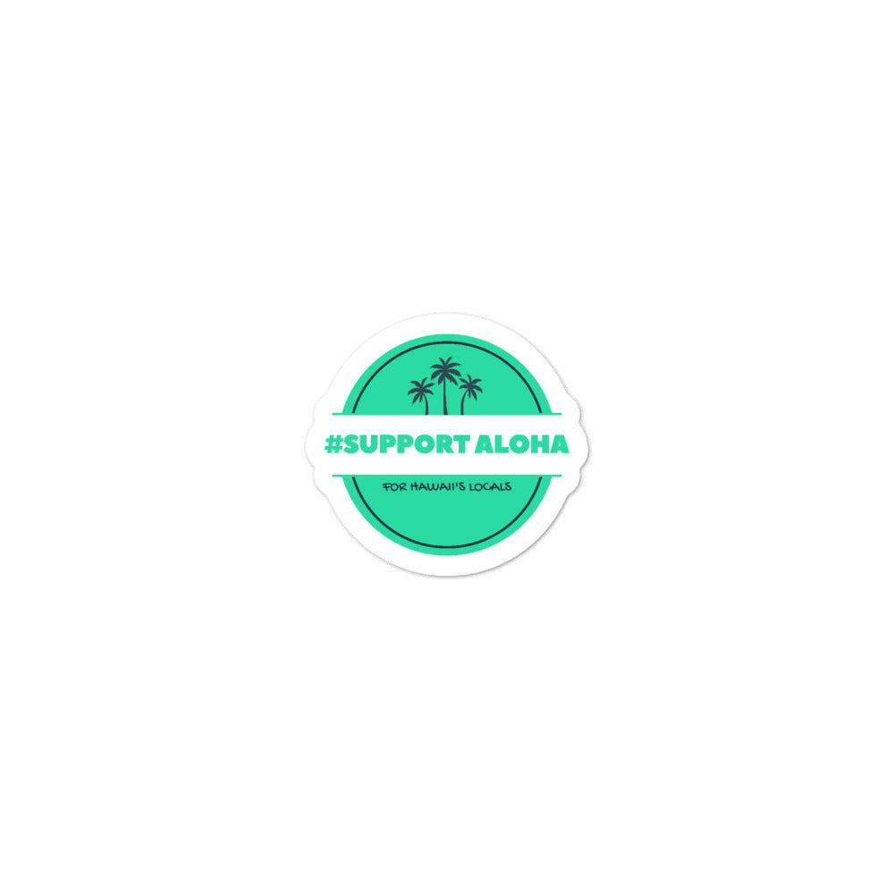 Bubble-free stickers #SUPPORT ALOHA Series Palm Tree