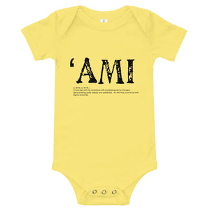 Baby Bodysuits AMI Front & Back printing