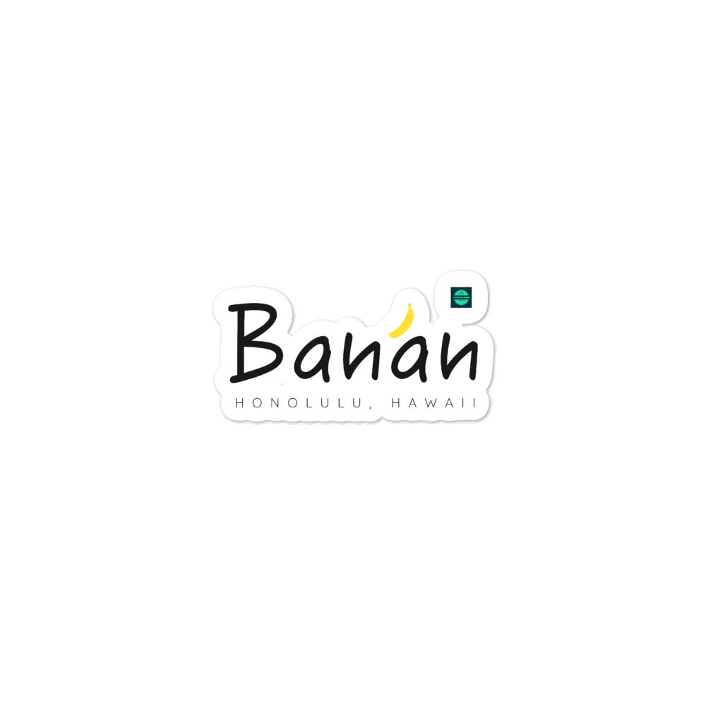 Bubble-free stickers Banan