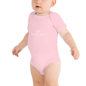 Baby Bodysuits Peace Cafe Hawaii Logo White
