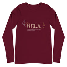 Load image into Gallery viewer, Unisex Long Sleeve Tee HELA Front & Back printing Logo White