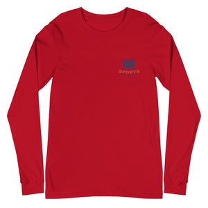 Unisex Long Sleeve Tee SPONAVIHAWAII Logo Blue