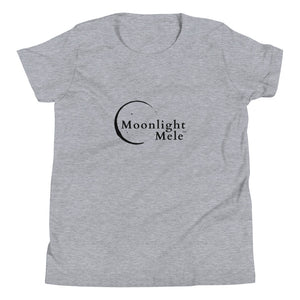 Youth Short Sleeve T-Shirt Moonlight Mele Logo Black