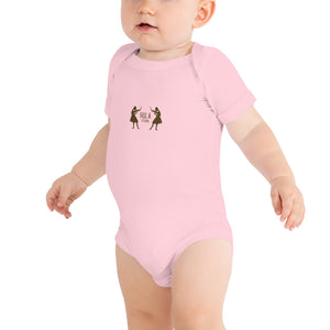 Baby Bodysuits HULA STRONG Girl 02 Logo Brown