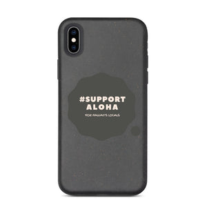 Biodegradable phone case #SUPPORT ALOHA Series Cloud Black