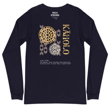 Load image into Gallery viewer, Unisex Long Sleeve Tee KAHOLO Front & Back printing Logo White