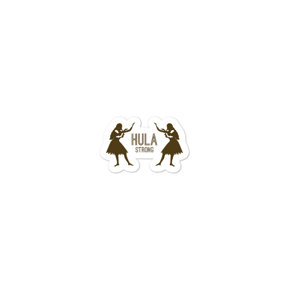 Bubble-free stickers HULA STRONG Girl 02