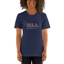 Load image into Gallery viewer, Short-Sleeve Unisex T-Shirt HELA Front & Back printing Logo White