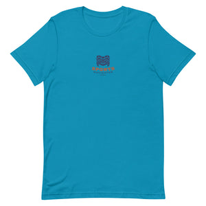 Short-Sleeve Unisex T-Shirt SPONAVIHAWAII Logo Blue