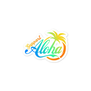 Bubble-free stickers #SUPPORT ALOHA Series Coco