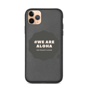 Biodegradable phone case #WE ARE ALOHA Series Cloud Black