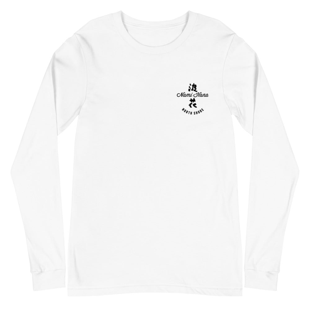 Unisex Long Sleeve Tee Nami Hana Logo Black