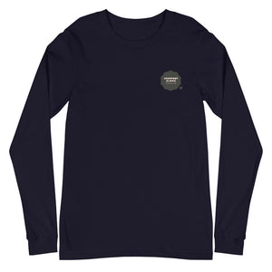 Unisex Long Sleeve Tee #SUPPORT ALOHA Series Cloud Black