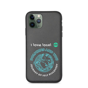 Biodegradable phone case Dolphin and You