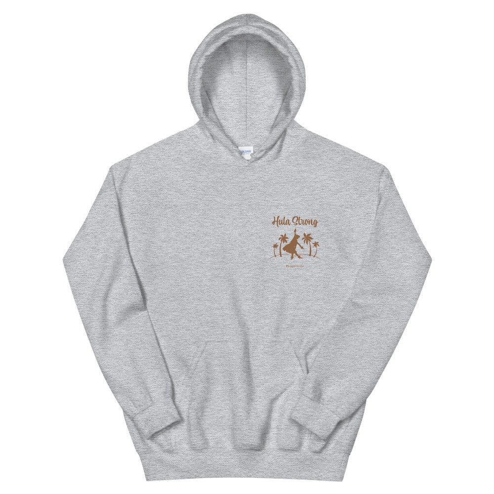 Unisex Hoodie HULA STRONG Girl Logo Brown