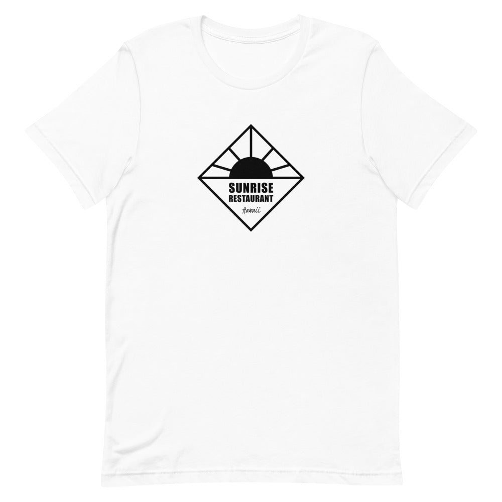 Short-Sleeve Unisex T-Shirt SUNRISE Restaurant Logo Black