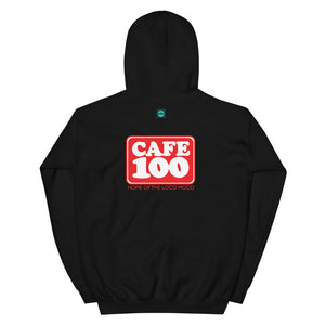 Unisex Hoodie Cafe 100 Front & Back printing