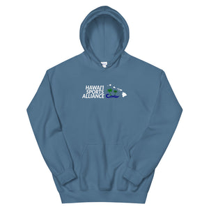 Unisex Hoodie Hawaii Sports Alliance (White Logo)