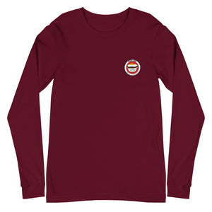 Unisex Long Sleeve Tee Cafe 100 Front & Back printing