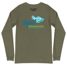 Load image into Gallery viewer, Unisex Long Sleeve Tee Maui Marathon Front & Back printing (Logo Black)