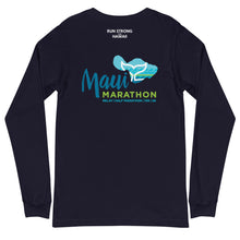 Load image into Gallery viewer, Unisex Long Sleeve Tee Maui Marathon Front & Back printing (Logo White)