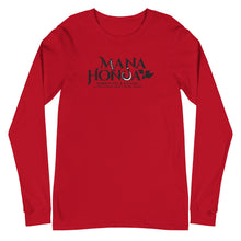 Load image into Gallery viewer, Unisex Long Sleeve Tee MANA HONUA Logo Black