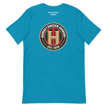 Load image into Gallery viewer, Short-Sleeve Unisex T-Shirt Hawaii Soccer Academy Front & Back printing (Logo White)