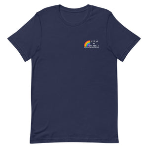 Short-Sleeve Unisex T-Shirt Hawaii de Poupelle (Rainbow Logo white)