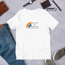 Load image into Gallery viewer, Short-Sleeve Unisex T-Shirt Hawaii de Poupelle (Rainbow Logo black)