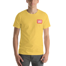 Load image into Gallery viewer, Short-Sleeve Unisex T-Shirt Cafe100 Front printing
