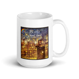 White glossy mug Hawaii de Poupelle