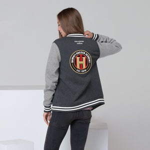 Women's Letterman Jacket Hawaii Soccer Academy Back printing