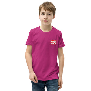 Youth Short Sleeve T-Shirt Cafe100 Front printing