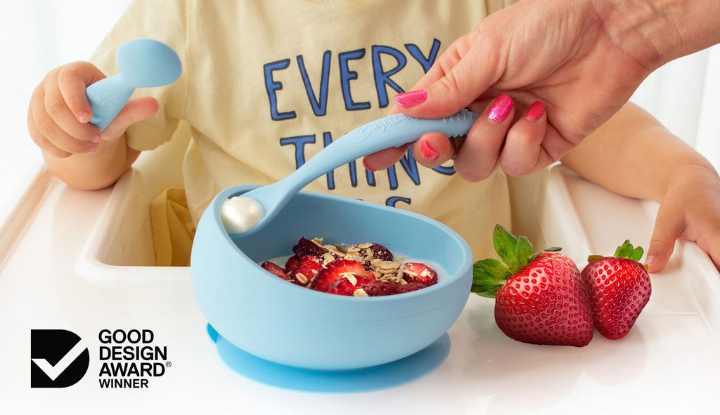 theOne™ - Silicone Suction Bowl and Spoons received a prestigious Good Design Award Winner Accolade in the Product Design category in recognition for outstanding design and innovation.
