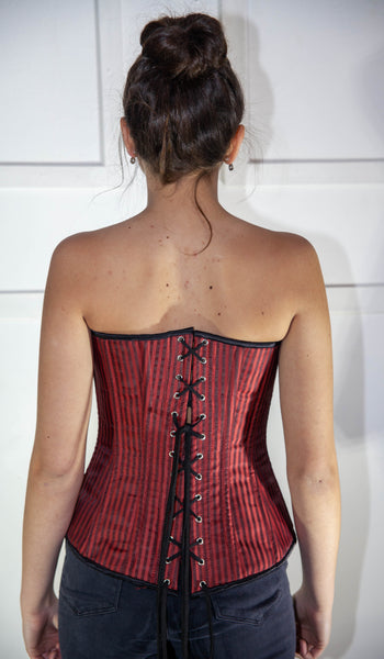 Red Striped Full Corset