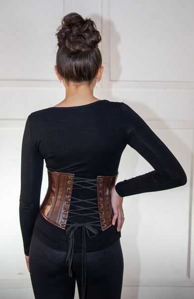 Brown Ladies Corset With Belts