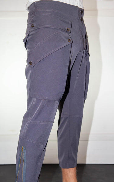 Horse Riding 3/4 Grey Trousers