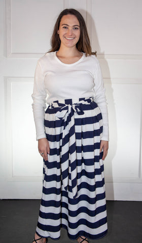 Blue and White Skirt