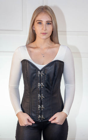 Full Leather Corset With Hooks